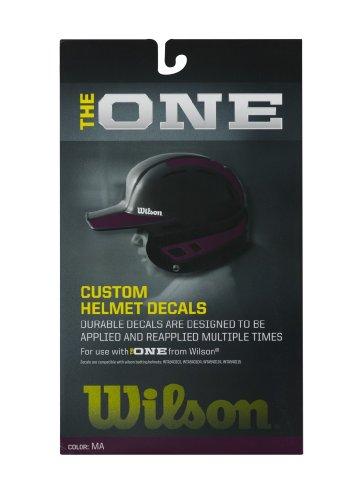 Wilson Custom Helmet Decal Kit (Maroon)