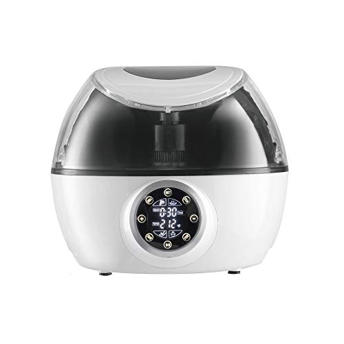 Gourmia GCR1700 10 in 1 Programmable Air Fryer & Multi Cooker - Robotic Hands-Free Stirrer - 1230W - White - Bonus Recipe Book