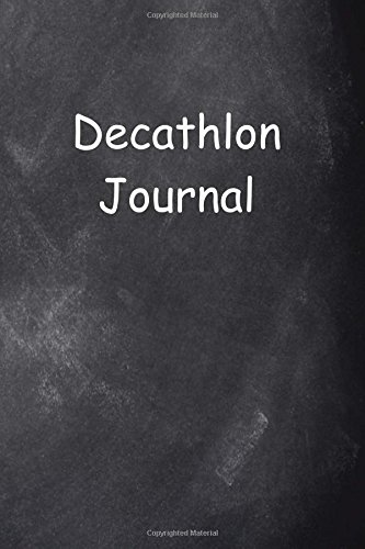 Decathlon Journal Chalkboard Design: (Notebook, Diary, Blank Book)