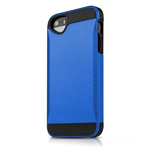ITSKINS IAPH5-EVLTN-BLUE - Custodia per Apple iPhone 5/5S, Colore: Blu