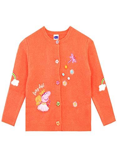 Peppa Pig Cárdigan para niñas Naranja 3-4 Años