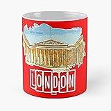 British Museum - Taza de café de cerámica blanca de color blanco