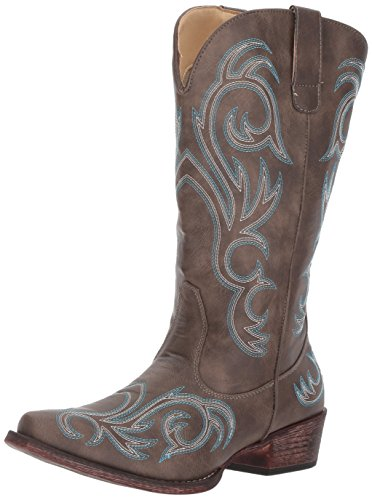 Roper womens Riley Western Boot, Brown, 9.5 US