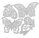 Combinación de mariposas Diy Cuchillo de corte Molde Cuchillo de acero al carbono Molde Rompecabezas Plantilla de cuchilla en relieve Troqueladoras para hacer tarjetas 4 10X11.8Cm