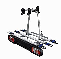 MENABO Race 3 rear carrier bike carrier for towbar lockable 3 wheels foldable with Quick-Stop