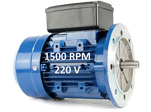 MOTOR ELECTRICO MONOFASICO 1,5KW / 2CV 220V 1500RPM B5 (BRIDA 200mm) TAMAÑO 90L (EJE 24mm)