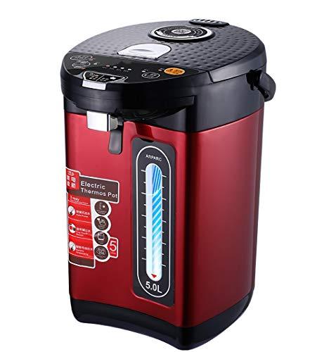 AHXF Heißwasserspender,Thermopot 5 L,Edelstahl Thermopot,HotConcealed Heizelement,Geeignet for Gewerbliche Oder Büro-Gebrauch, 1600 W, 5L (Color : Red)