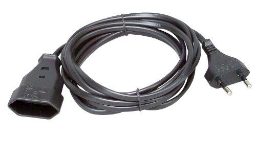Kopp 146205091 Euro-Verlängerung 3 m, schwarz