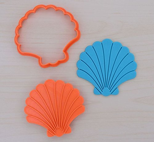 Seashell 1 - Cookie Cutter and Stamp Set (2 x 2 inches)
