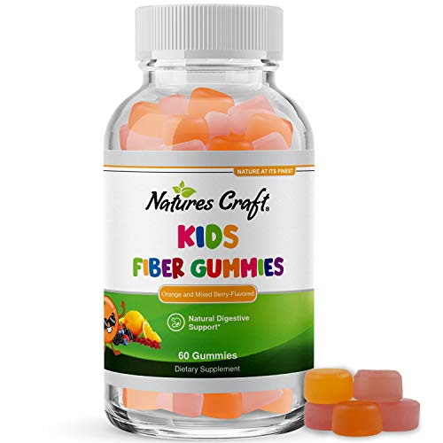 Kids Fiber Gummy Prebiotics Supplement - Soluble Fiber Gummies for Kids Constipation Relief Digestive Health and Leaky Gut Repair - Kids Fiber Gummies Immune System Booster Delicious Gummy Vitamins