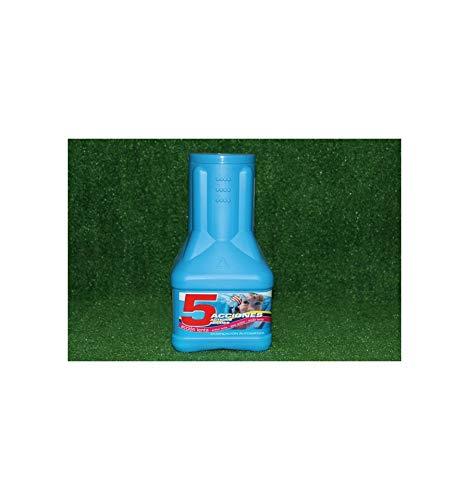 PQS- 11532 - Dosificador 5 acciones acción lenta: Desinfectante, Estabilizador de Cloro, Algicida, Antihongos y Floculante. Dosif. Autom. Bote 2 Kg