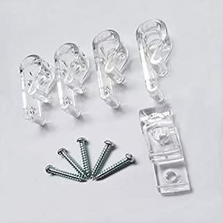 Isali 5PC Child Safety Blinds Hook Clip for Zebra Vertical Roman Roller Blind - (Color: Transparent Plastic)