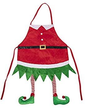 Elf Christmas Apron with Hanging Legs Holiday Novelty Gift  35 x 23 In