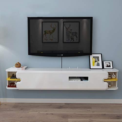 AFEO-wand-tv-kast zwevend rek hangend wandrek wandmontage televisiekast rek televisieachtergrond opslagrek televisieconsole dvd-set top box router speler kabelbox