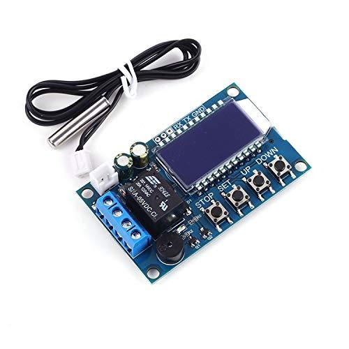 YEZIB Módulo de Sensor electrónico Temperatura Velocidad del Ventilador del módulo de controladora Termostato Digital Refrigeración Calefacción Controlador de Pantalla LCD de Temperatura Sensor