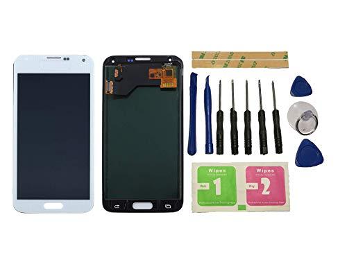 Flügel para Samsung Galaxy S5 I9600 SM-G900 G900F Pantalla LCD Pantalla Blanco Táctil digitalizador Asamblea Pantalla (sin Marco) de Recambio & Herramientas