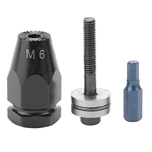 リベットナットヘッドキット、M5 M6 M8 M10空気式プルセッターエアリベットナットガン空気圧リベッター用リベットナットヘッド(Hex straight shank-M6)