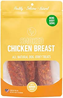 Healthy Spot / Mind Body Bowl – 4 oz Premium Smoked Chicken Breast Dog Treats– Healthy Snacks for Dogs