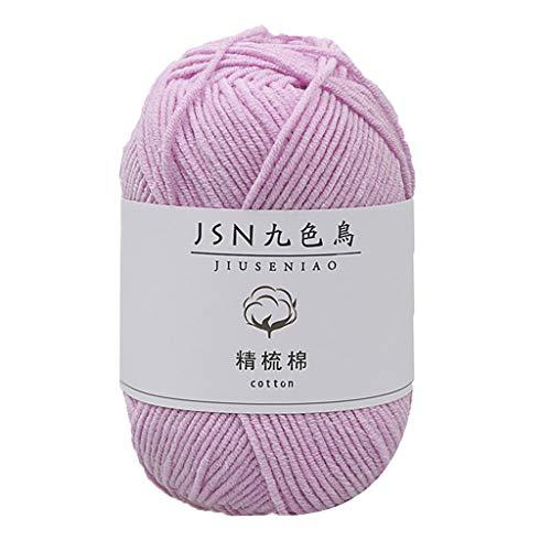 HINK Laine Groupe Lait Coton 4 brins bébé Ligne Bricolage poupée Fil de Coton Crochet bébé Laine Maison et Jardin Textiles de Maison