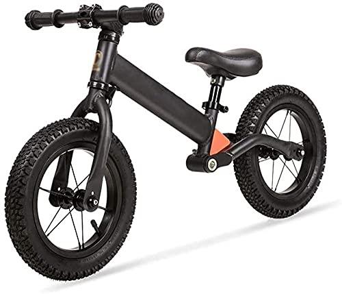 Bicicleta para niños de 12 pulgadas con ruedas de entrenamiento para niñas de 2 a 6 años con 85% montado en blanco, rojo, negro, negro y negro