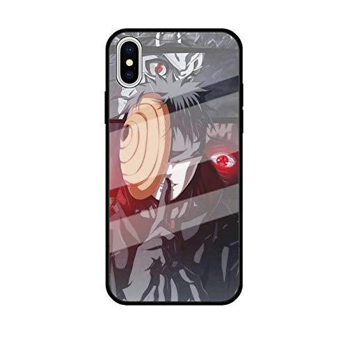 Carcasa de Cristal Templado para iPhone 11 Pro MAX SE 2020 X XR XS MAX 6 6S 7 8 Plus Uchiha Sasuke Itachi Kakashi Akatsuki-Photo_Color_7plus/8plus