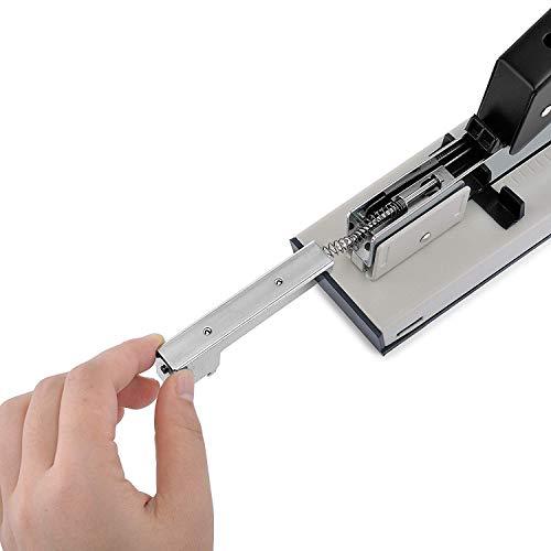 uyoyousホチキス大型針1000枚付き大型ホチキス業務用卓上簡単ワンタッチ高品質最大綴じ枚数100枚