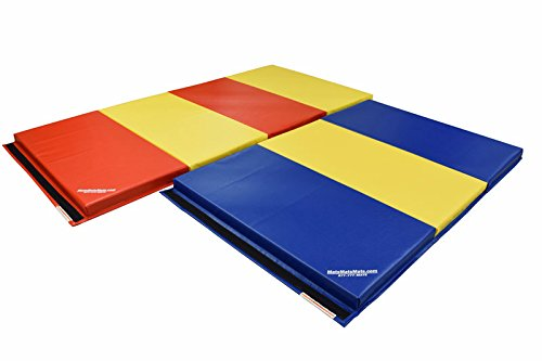 For Sale! MatsMatsMats.com SoftPlay Elementary Folding Play Mat, 4'x8'x2.5, Red/Yellow Alternating, ...