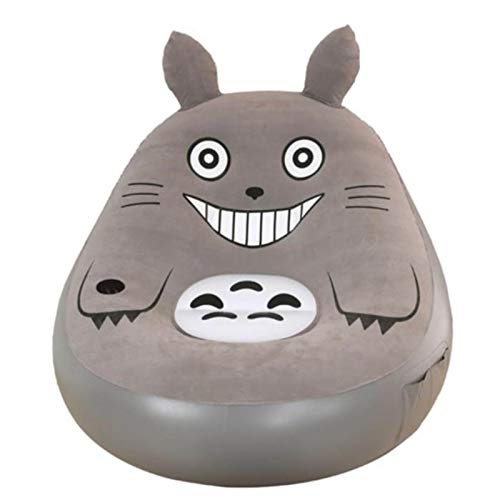 VIVITG My Neighbor Totoro Inflatable Sofa Lazy Couch Totoro Sheets People Cute Bedroom Recliner Lunch Break Fashion Cushion Sofa Chair,No Pedal