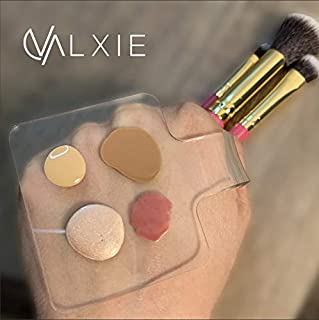 Makeup Hand Held Palette (Clear)Valxie Makeup Hand Held Palette - Clear Mixing, Blending, Applicator Tool for Professional Artists and Personal Use-100% Skin Safe Acrylic Plastic-Lightweight, Reusable