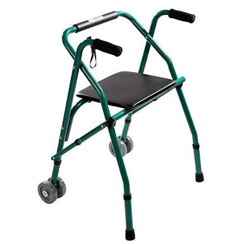 YHtech Ancianos Andador Walker Cuatro Patas Antideslizantes Plegable Antideslizante bastón con el Hospital