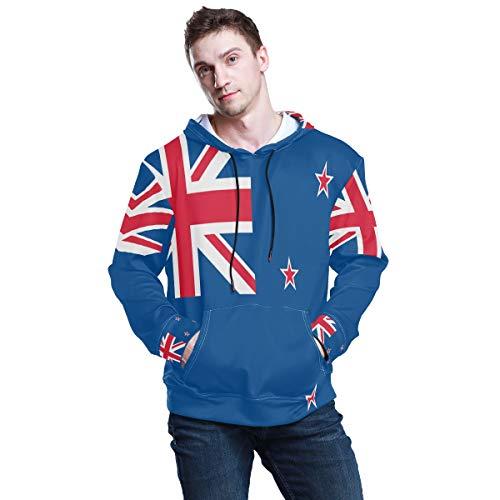 All3DPrint Neuseeland Flag Herren Pullover Kapuzenpullover Sweatshirt Gr. Medium, multi