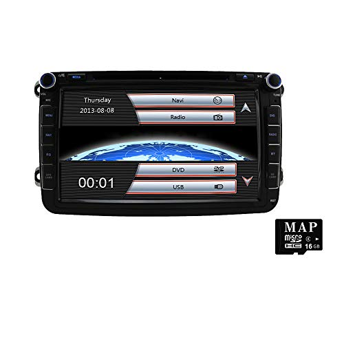 Stereo Home 8 Zoll 2 Din Autoradio Naviceiver mit DVD CD GPS USB SD CANBUS FM AM RDS Video Bluetooth Lenkrad Bedienung Wince6.0 SWC 8GB Kart