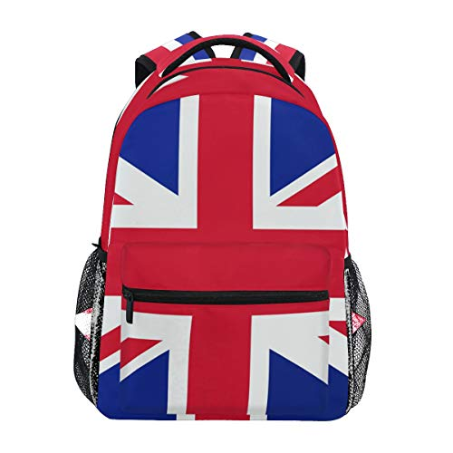 Mochila Informal con Bandera británica de Londres, para Estudiante, Escuela, Viajes, Senderismo, Camping, portátil, Mochila