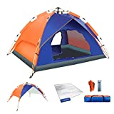 Pop Up Tent,4 Season Portable Lightweight Instant Automatic 3 4 Waterproof Family Camping Tents,86.6x74.8x55in,Easy Quick Setup Dome Tents for Camping,Hiking,Zippered Doors,Detachable 2 Layer