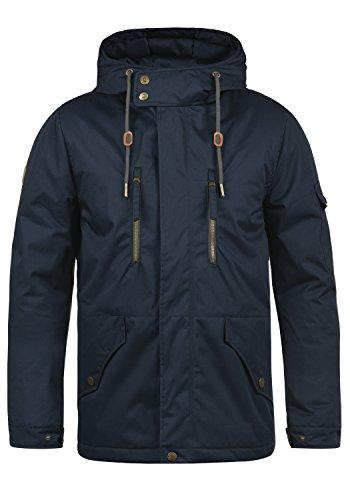 Indicode Elmhurst Herren Übergangsjacke Herrenjacke Jacke mit Kapuze aus 100% Baumwolle, Größe:S, Farbe:Navy (400)