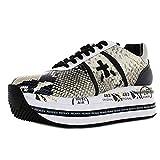 PREMIATA Scarpe Sneakers Donna Beth 4116 Pelle Nero