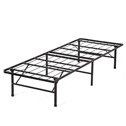 Bed Frame Bi-Fold Twin Folding Platform Metal Bed Frame Mattress Foundation