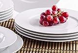 Kahla 45A133O90045B Aronda Tafelservice 12-teilig Porzellan ohne Muster Tellerset für 6 Personen weiß rund Suppenteller 23 cm großer Speiseteller 27 cm - 3