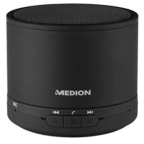 MEDION E61500 Bluetooth Lautsprecher (Freisprechfunktion, 28 Watt, LED Anzeige, AUX, bis zu 15 Stunden Akkulaufzeit)