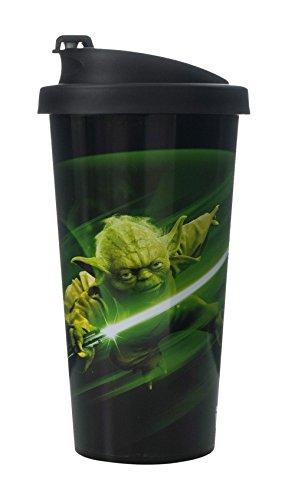 Room Copenhagen Reisebecher Star Wars-Yoda 500ml in schwarz, Silikon, 9.4 x 9.4 x 18.5 cm