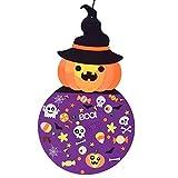 YOKING - Conjunto de cabeza de calabaza de fieltro para Halloween con adornos, kit de artesanía, para colgar en la pared, decoración de fiesta de Halloween en interiores y exteriores