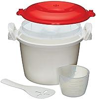 KitchenCraft magnetron-rijstkoker en -stoomkoker, BPA-vrij kunststof, 1,5 liter
