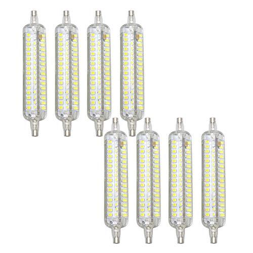 LIBAI R7s LED 118Mm Dimmable Bulb 15W 110/220V 1500 Lumens Flood Light Floor Lamp J Type LED Bulb Instead of 150W Tungsten Halogen Lamp Cold White, 8 Pcs,110~120V