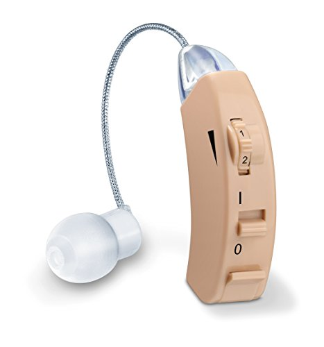 Price comparison product image Beurer HA50 Hearing Amplifier,  Discrete Hearing Aid for Seniors & Adults,  Adjustable Sound Amplifier,  Indoor & Outdoor,  Ideal for Restricted Hearing Ability,  3 Attachments,  Battery & Travel Box