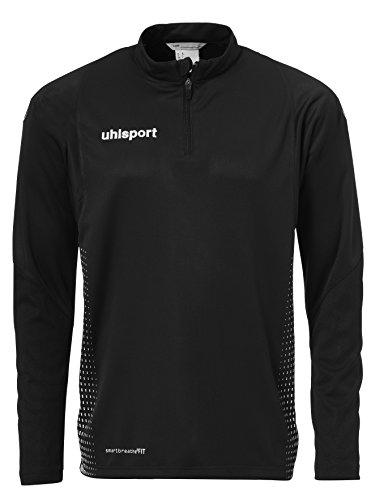 uhlsport Herren Score 1/4 Zip Top Sweatshirt, schwarz/Weiß, XXL