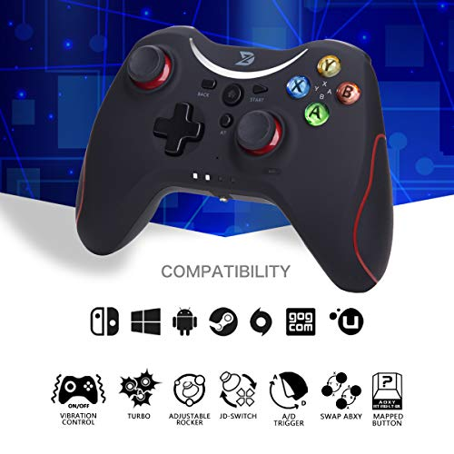 ZD-T+ [Bluetooth] pro Wireless Gaming Controller for Nintendo Switch,Lapto/PC(Win7-Win10),Android Smartphone Tablet VR TV Box (for PC