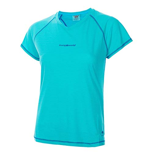 Trangoworld Musia Camiseta, Mujer, Azul Turquesa/Azul Oscuro, L