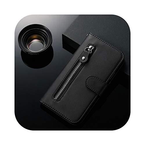 Fun-boutique - Funda para Samsung Galaxy A10 A20, A30, A40, A50, A60, A70, S, A51 y A71 con cierre de cremallera para Samsung S20, S10, E, S9 Plus, Note 9, 10, piel sintética, color negro