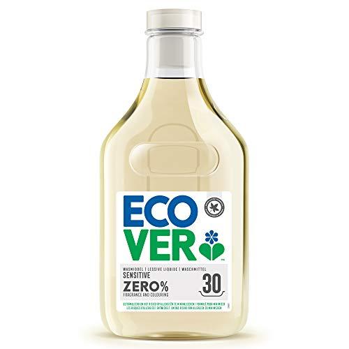 Ecover Lessive Liquide Zero   Sans Enzymes  Doux Pour Les Peaux Sensibles Hypoallergénique   Convient Pour Les Bébés   1,5L - 30 Lavages