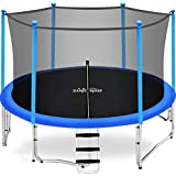 Zupapa 15FT 14FT 12FT 10FT 8FT Kids Trampoline 425LBS Weight Capacity with Enclosure net Include All Accessories Outdoor Backyard Trampoline